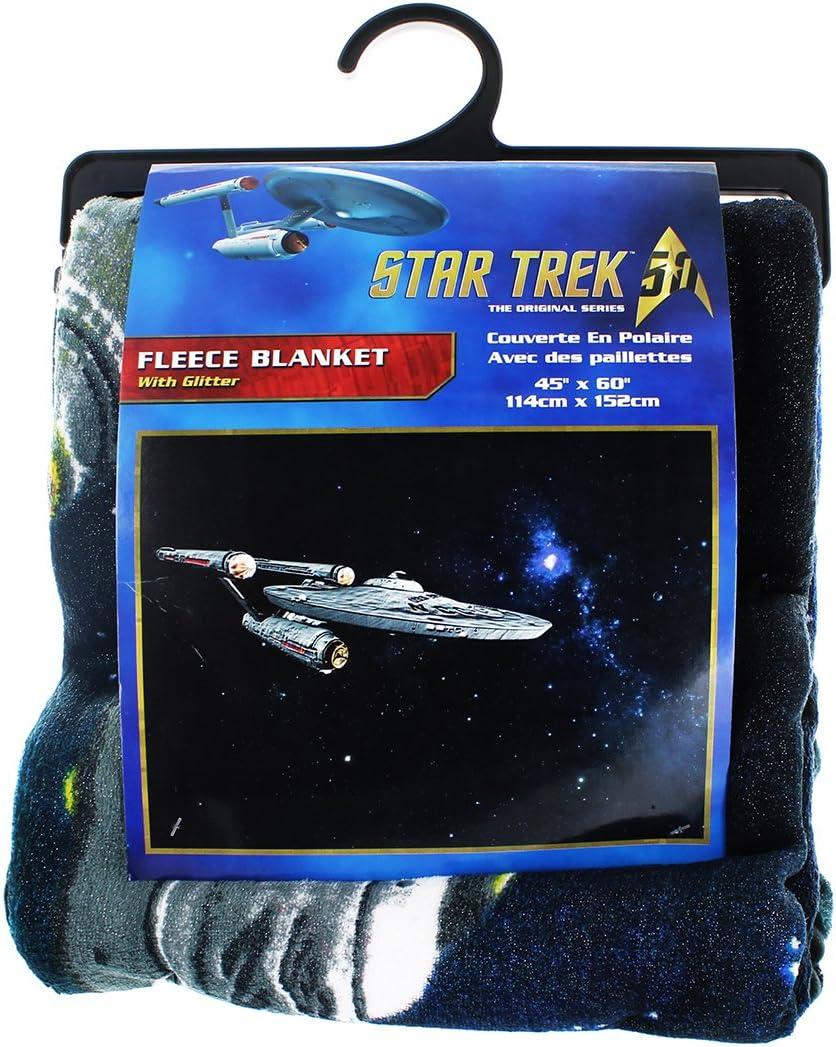 45x60 Just Funky Enterprise Glitter Fleece Startrek
