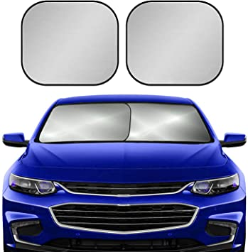 Excellent UV Heat and Sun Reflector Double Sided Car Windshield Sun Shade Lightweight Foldable Car Front Rear Windshield Silver Fit Windscreen Car Large Or Small