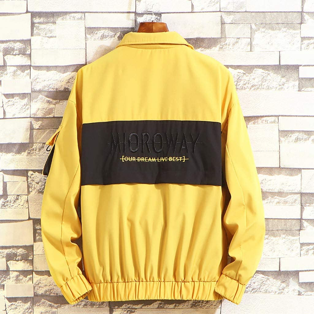 Palarn Print Pullover Winter Clothes Mens Autumn Winter Fashion Casual Outwear Zipper Breathable Tooling Coat