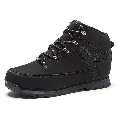 Henleys Defender Mens Lace Up Walking Boots - Black - UK 12