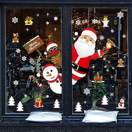 Décorations De Noël Verre Givré Fenêtre Autocollants facile à Stick Facile à Retirer
