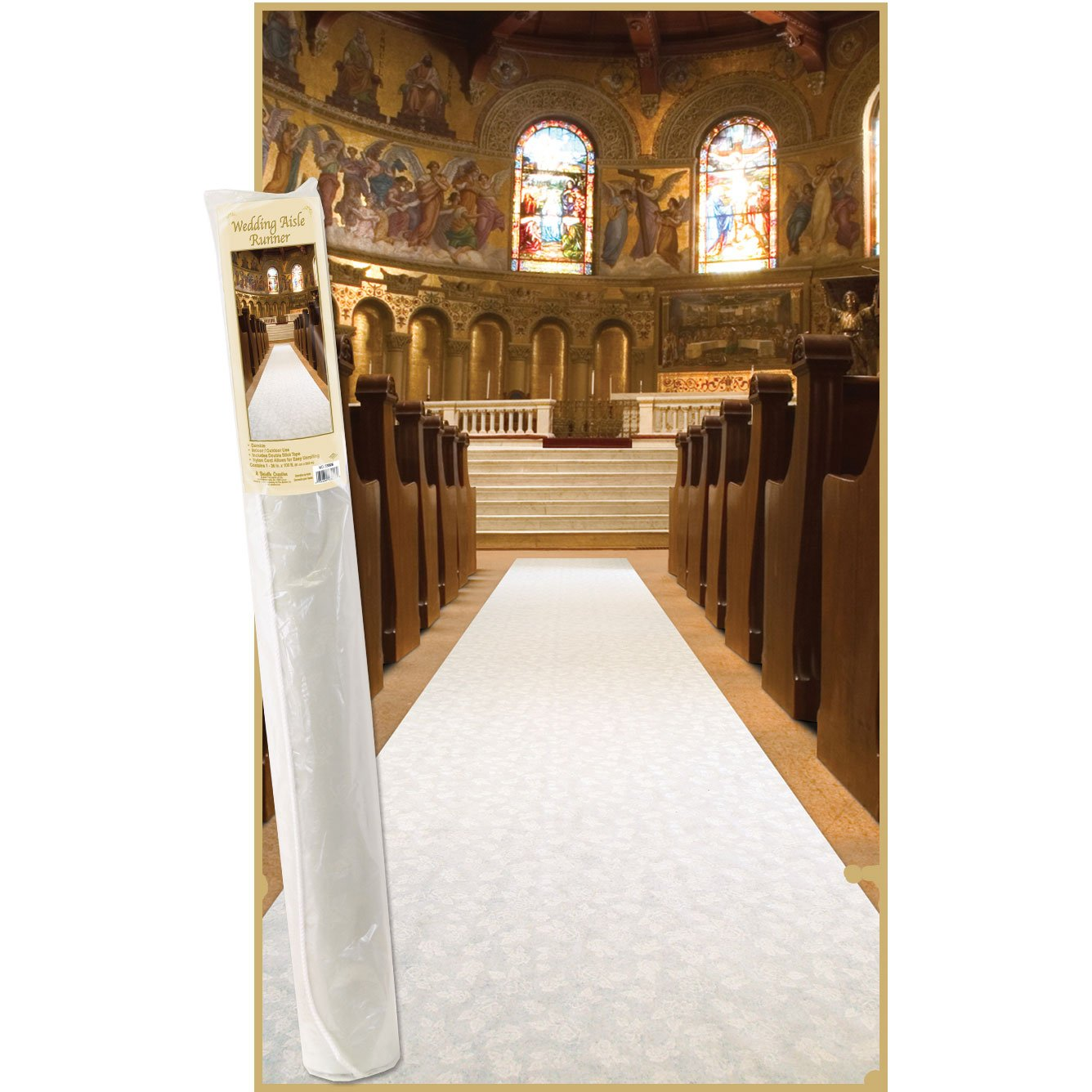 Beistle 53026 Elite Collection Aisle Runner, 3-Feet by 100-Feet - Shop Amazon.com Rugs- Runners