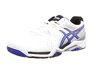 ASICS Gel-Resolution 6 - Zapatillas de Tenis para Hombre, Color Rojo (Fiery Red/Black/White 2390), Talla 48