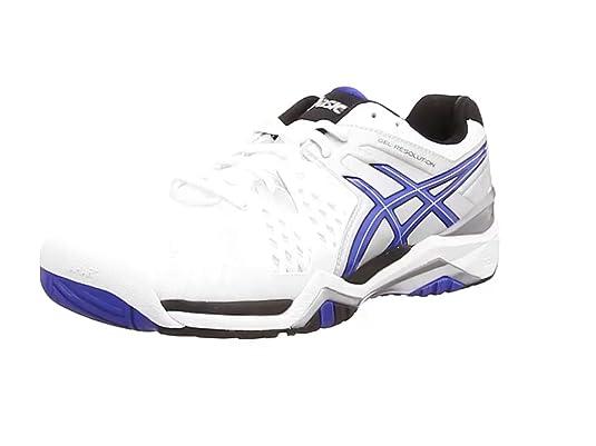 ASICS Gel-Resolution 6 - Zapatillas de Tenis para Hombre, Color Rojo (Fiery