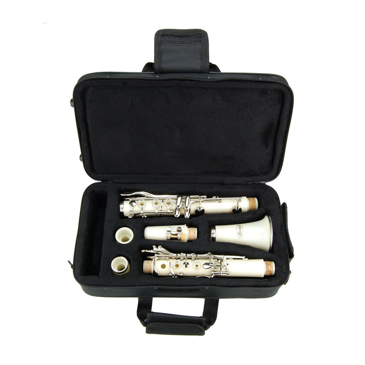 White ABS Clarinet for Band Students Beginners Starter Adult Teen Kids