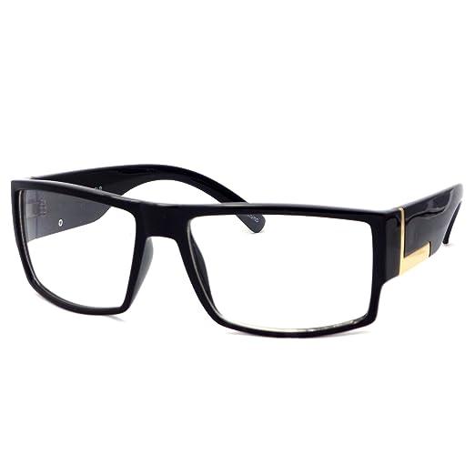 Amazon.com: VINTAGE Rectangle Flat Top Frame Clear Lens Eyeglasses ...