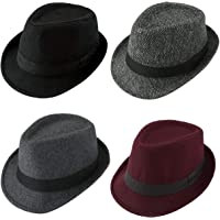 FALETO Fedora Hat Trilby Hats Cotton Blended Panama Sun Jazz Cap for Mens  Womens 355bad0548ee