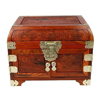 Rote Palisander Schmuck Box Holz Schmuck Box Handwerk Antike Möbel