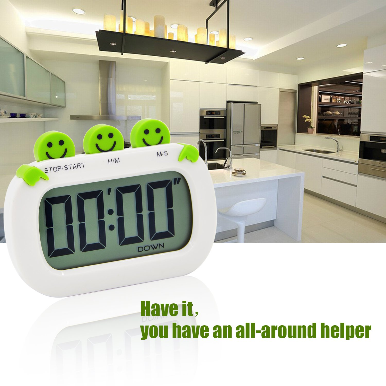 Amazon.com: Hitechway Cute Digital Count-Down Up Kitchen Timer ...