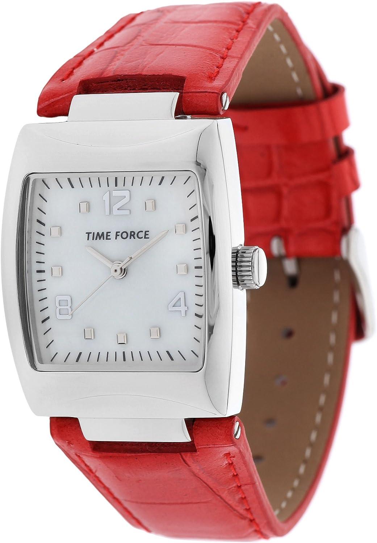 Time Force Tf4083l04 Reloj Analogico para Mujer Caja De Acero Inoxidable Esfera Color Blanco