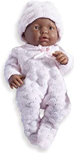 JC Toys - Mini La Newborn First Day African American   Anatomically Correct Real Gir l Baby Doll   9.5