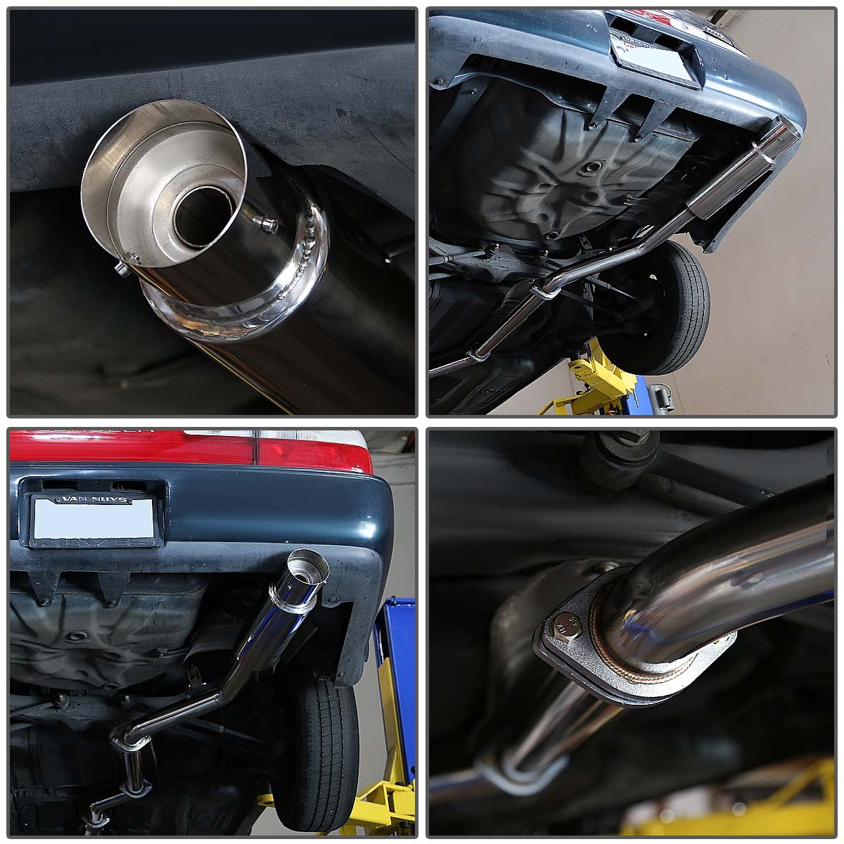 DNA Motoring CBETCO93 Catback Exhaust System For 93-97 Corolla E100 1.6L// 1.8L