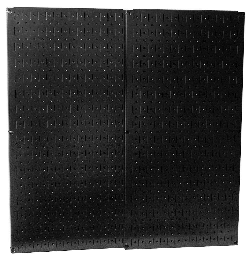 Wall Control 30-P-3232B Black Metal Pegboard Pack
