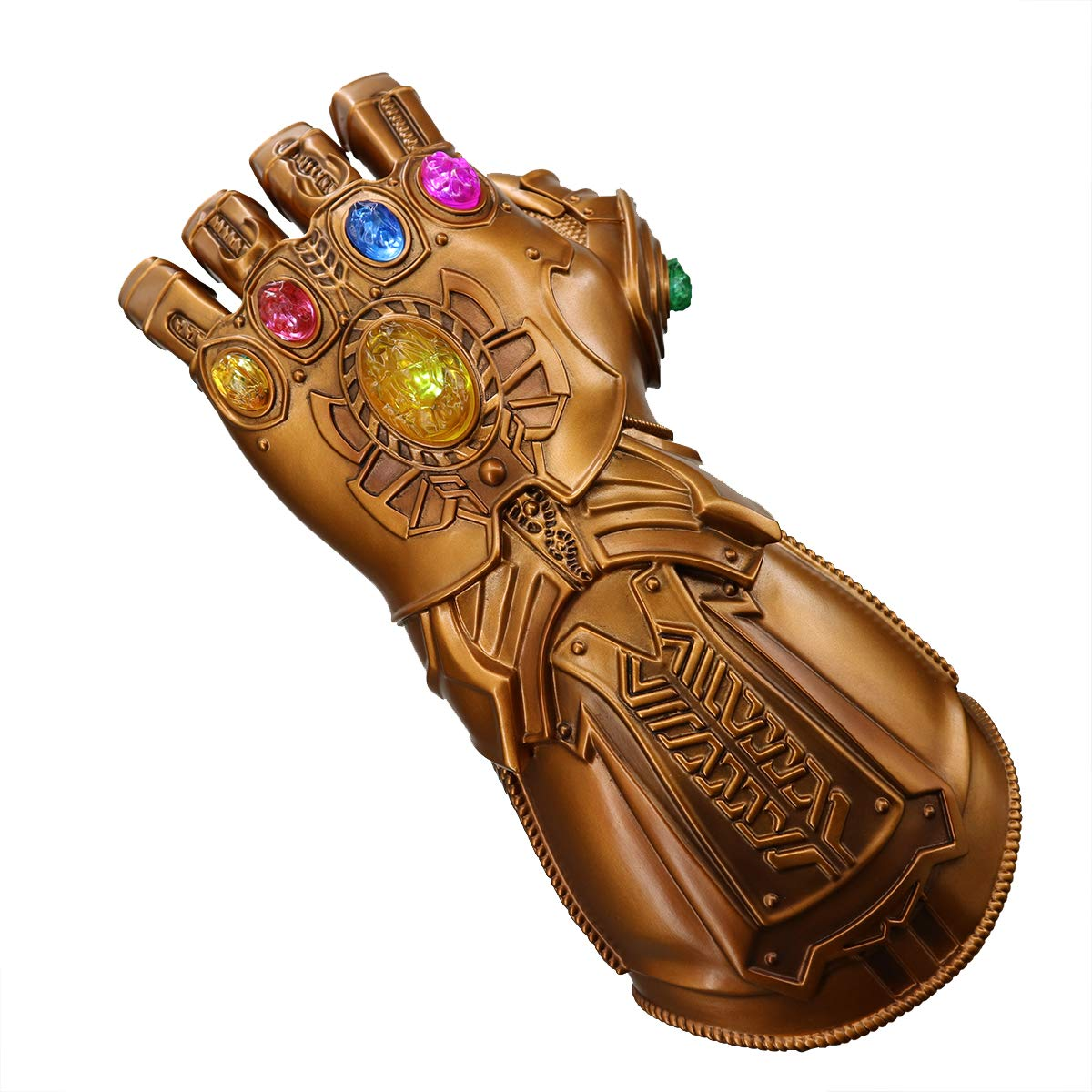 Bulex New Version Infinity Gauntlet LED Light PVC Thanos Gloves for Halloween Props (LED Gems Separable, Adult) by Bulex (Image #5)