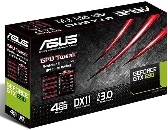 Asus GTX690 - Tarjeta gráfica (NVIDIA GeForce GTX 690, GDDR5 4 GB ...