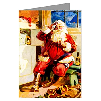Amazon com: Victorian Vintage Santa At The Icebox After The