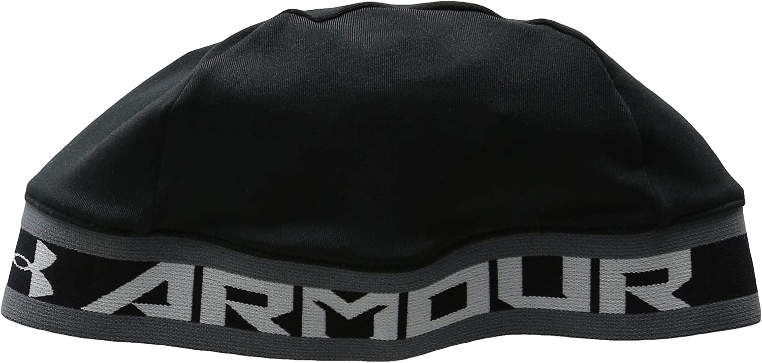 Under Armour Boys' Basic Skull Cap , Black (001)/White , One Size Fits All: Clothing