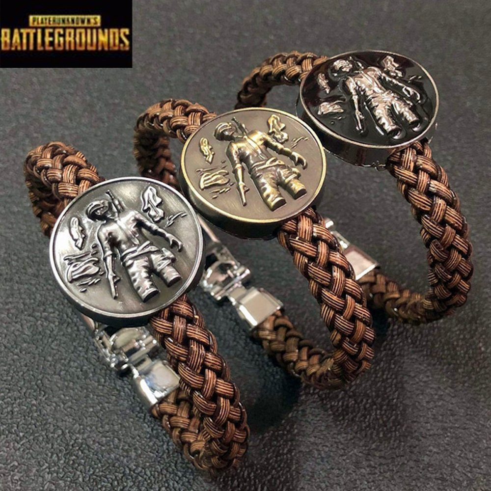 Handmade PLAYERUNKNOWN'S Battlegrounds Game Bracelets Woven Wristband Cosplay Costumes Prop