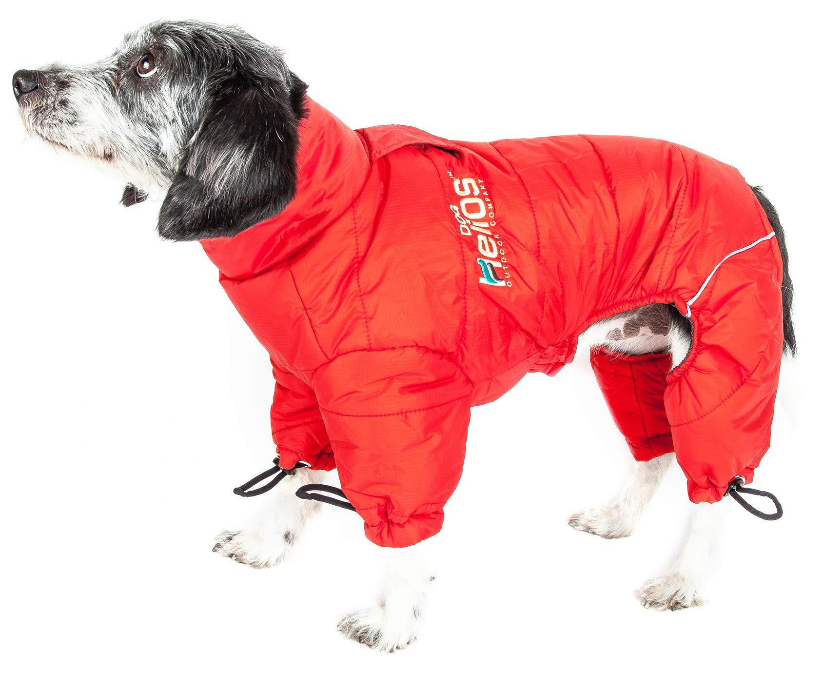 DOGHELIOS 'Thunder-Crackle' Full-Body Bodied Waded-Plush Adjustable and 3M Reflective Pet Dog Jacket Coat w/ Blackshark Technology, X-Large, Grenadine Red by DogHelios