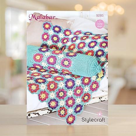 Stylecraft Malabar manta y cojín patrón 9285: Amazon.es: Hogar