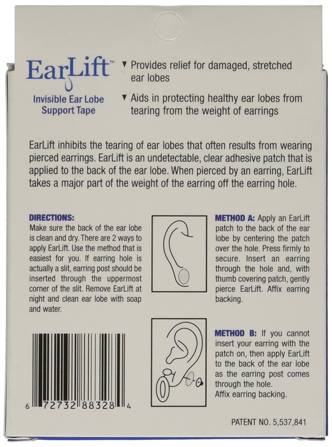 Amazon: Earlift Invisible Ear Lobe Support Solution: Health & Personal  Care