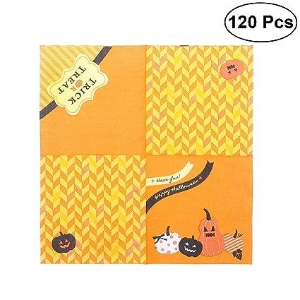120pcs Halloween Pumpkin Paper Napkin Tissue Napkins Pumpkin