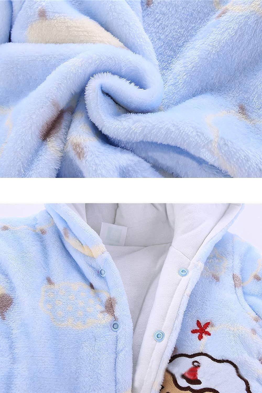 VNVNE Newborn Baby Cartoon Sheep Snowsuit Winter Thicken Warm Fleece Hooded Romper Jumpsuit