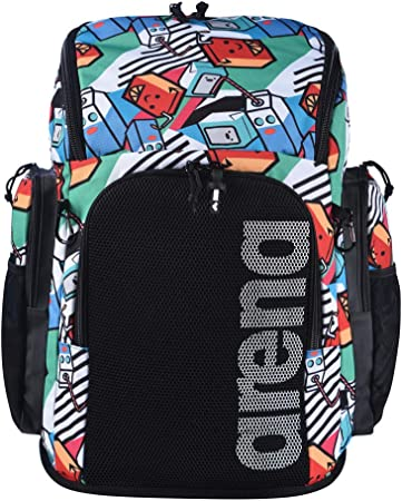ARENA Bolsa Team Backpack 45 Allover Monkey Talla /Única Unisex Adulto