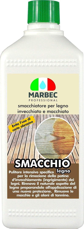 Marbec - SMACCHIO LEGNO 1LT | Pulitore per legno invecchiato e smacchiatore del tannino