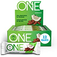 ONE Protein Bars, Almond Bliss, Gluten Free Protein Bars with 20g Protein and only 1g Sugar, Guilt-Free Snacking for…