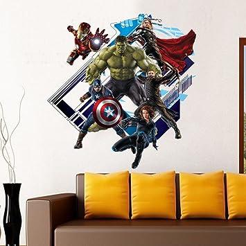 Amazon Com Yosa 3d Avenger Wall Sticker Baby Kids Room