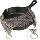 """ALPHELIGANCE Cast Iron Cleaner- Stainless Steel Chainmail Scrubber for Pre Seasoned Skillet Pan,New Kitchen Tool for Washing Cookware (6"""" × 8"""")"""