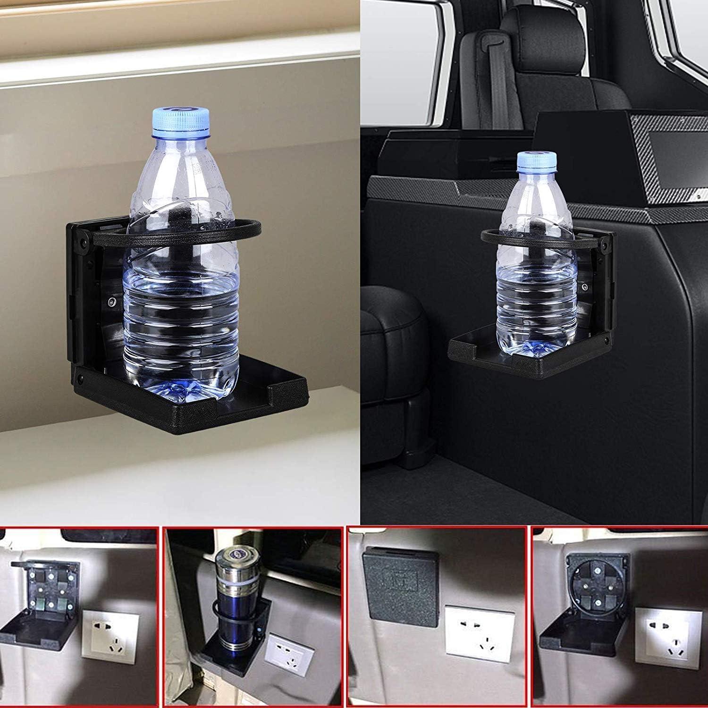 X AUTOHAUX Silver Tone Adjustable Folding Drink Holder Universal Cup Bottle Holder for Caravan Car Trucks RVs