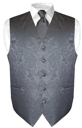 Hombre vestido de diseño de cachemira de chaleco y corbata gris ...