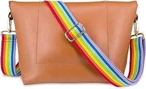 Wolven Adjustable Purse Strap Replacement Crossbody Shoulder Strap For Handbag Laptop Bag Etc - (Rainbow)