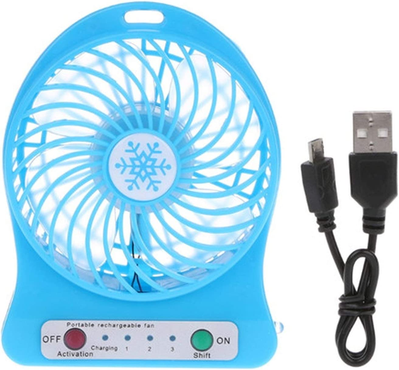 Portable Mini Desk Rechargeable LED Light USB Fan Air Cooler Desk USB Fan