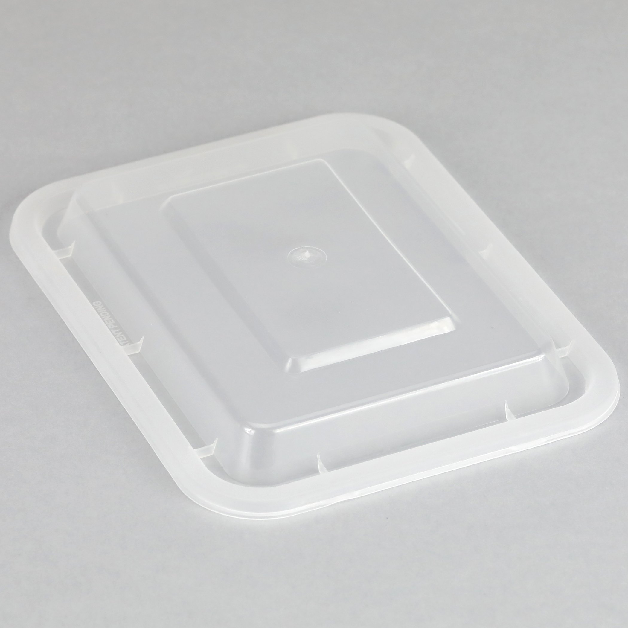 Simply Deliver 5 x 4 Medium Rectangular Container with Lid Microwavable 150-Count Black