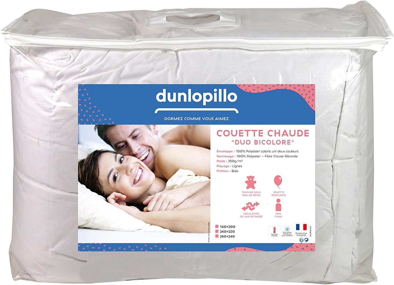 Dunlopillo - Edredón, Color Blanco, 240 x 260