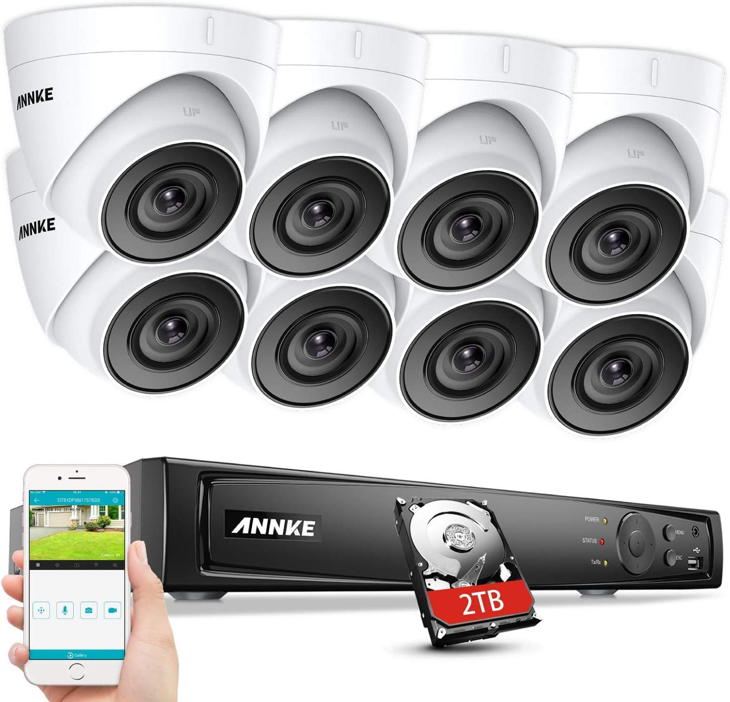 ANNKE H.265 Pro+ 5MP PoE Überwachungskamera System Set - Videoüberwachung