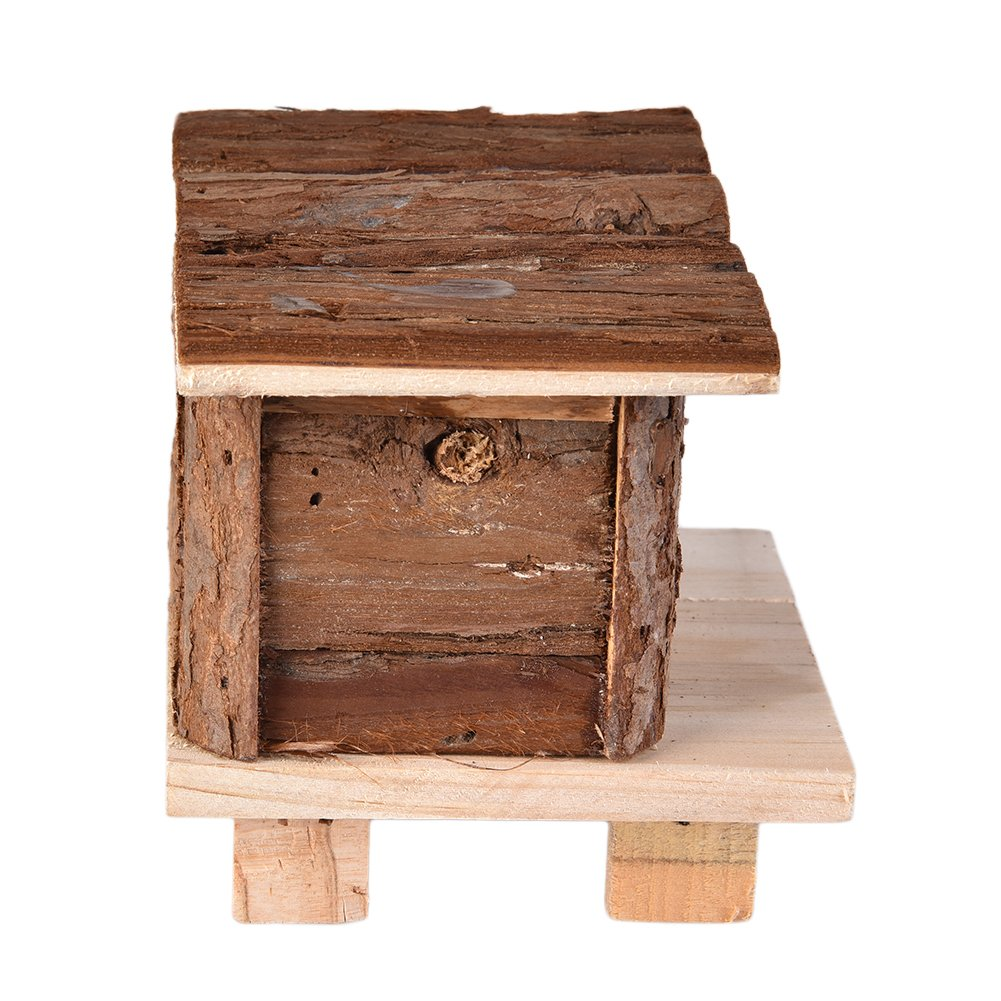 Awtang Hamster Castle Wooden House Little Pet Toy for Exercise Climbing Mice Chew Toy