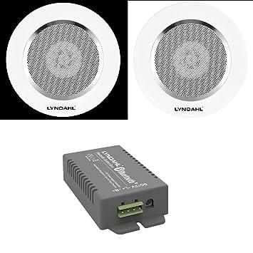 Lyndahl Juego de Altavoces, Amplificador Bluetooth de 4 Canales CS200BT-AMP y Altavoces de