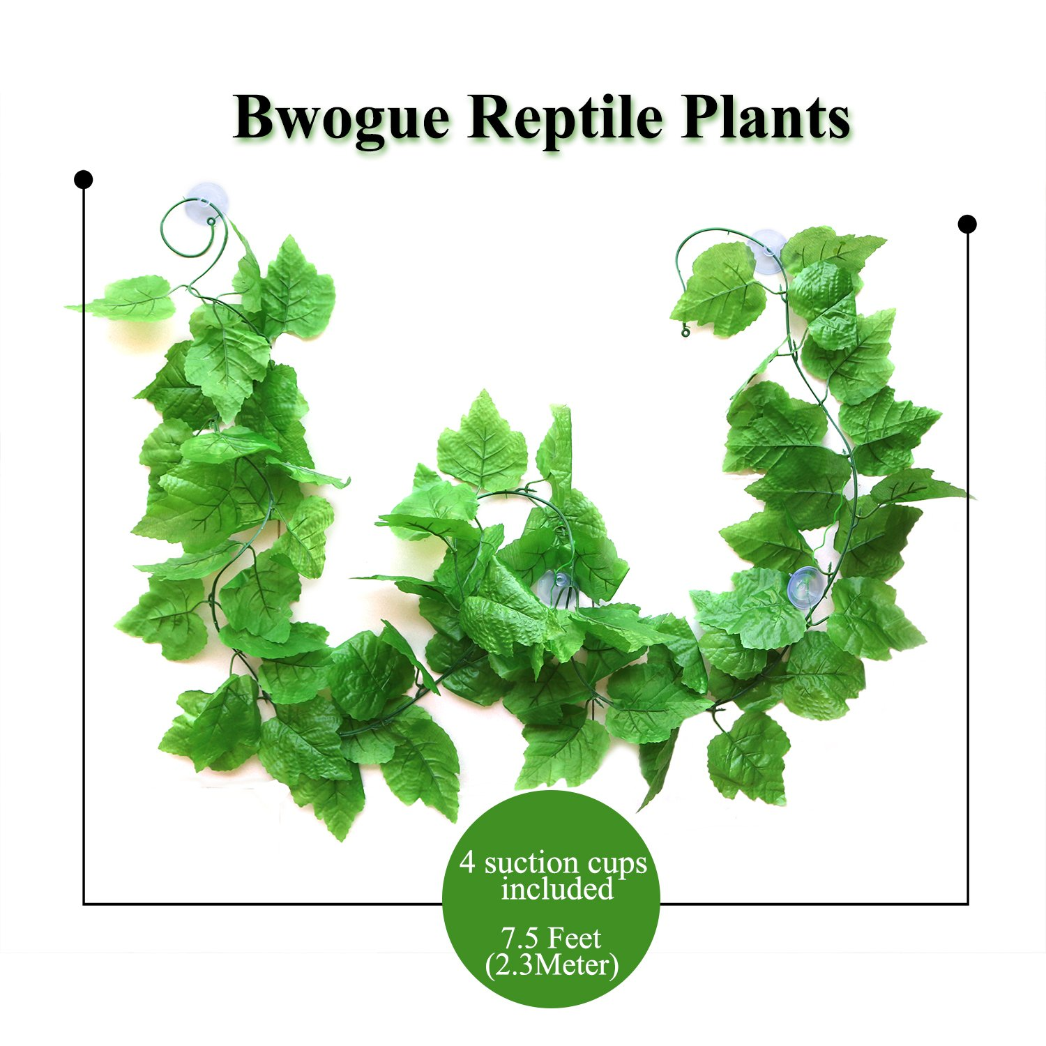 Amazoncom Bwogue Artificial Reptile Plants With Sunction Cups  Green