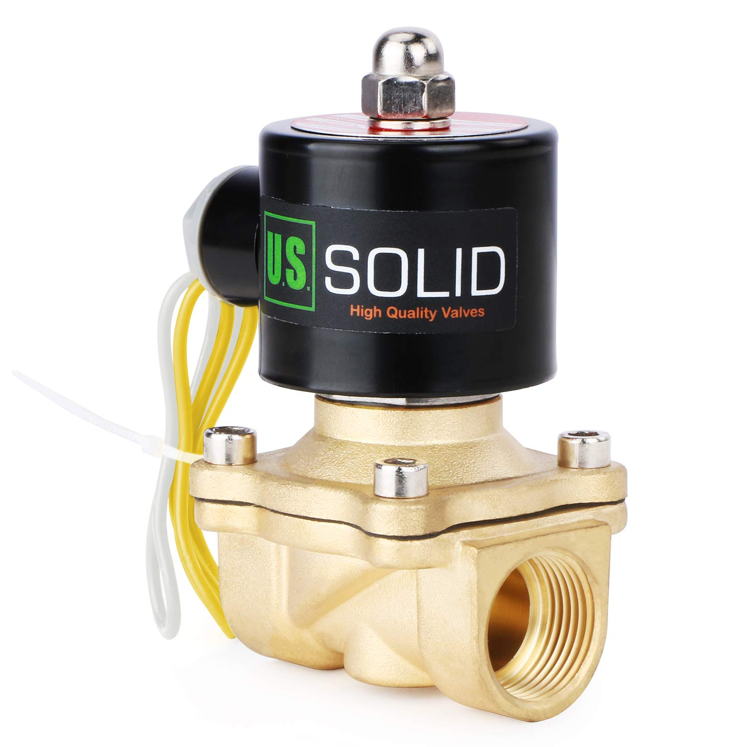 "3/4"" Brass Electric Solenoid Valve 110V AC Normally Closed Water, air, Diesel."