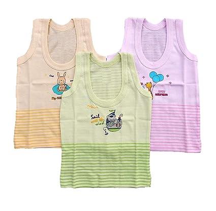 3cd0285be Buy Baby Shopiieee Unisex Regular Fit Cotton Vest 3-6 Months (Pack ...