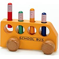 The Original Toy Company Pop-Up School Bus Multi, 7 inches Length x 3.5 inches Height x 3 inches W