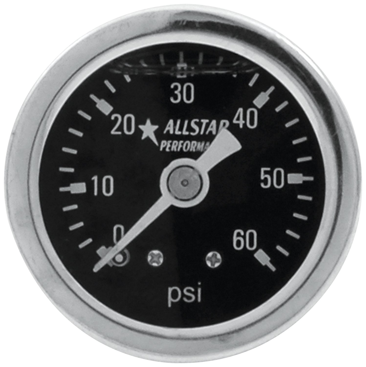 Allstar Performance ALL80200 0-15 PSI 1-1//2 Glycerine Filled Shockproof Pressure Gauge