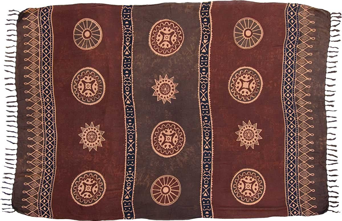 Brown Asian Coin Baliku Sarong