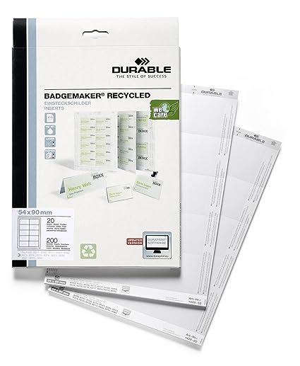Durable Badgemaker - Tarjetas identificativas para impresora ...