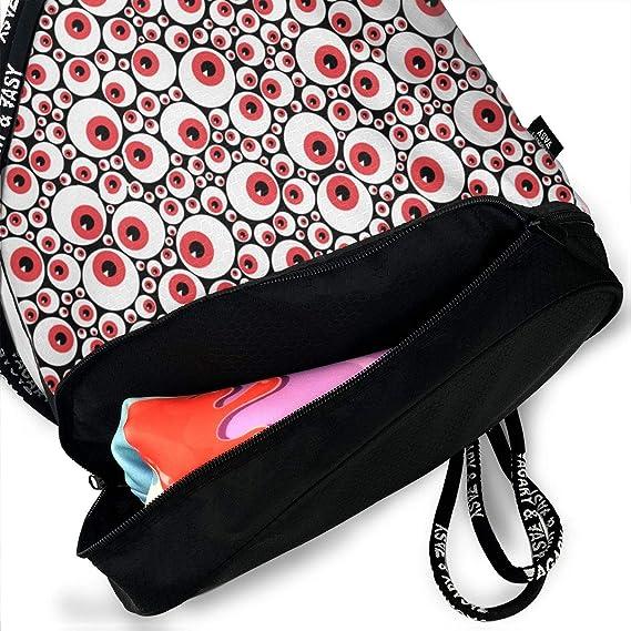 354b929ec61d Amazon.com: SKBGKL2 Eyeballs Red Pattern Drawstring Bag ...