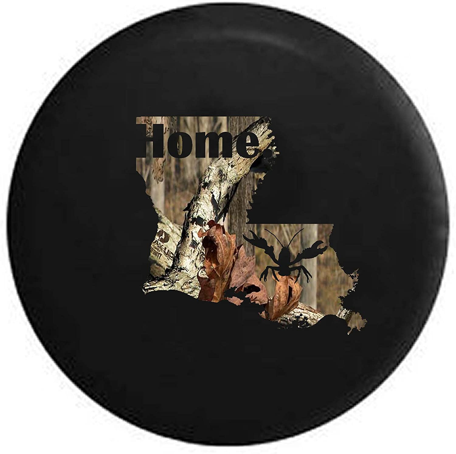 Pike Camo Louisiana Crawfish Home State Edition RV Spare Tire Cover OEM Vinyl Black 27.5 in